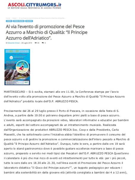 City Rumors Pescara 2019